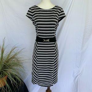White House Black Market WHBM Midi Dress SZ 10